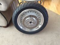 Harley Davidson fat boy front wheel/new tire and rotor $400.00