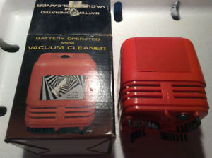 Vintage Battery Operated Mini Vacuum Cleaner - NEW