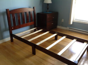 Bed frame and headboard