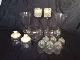 Glassware sweet jars sweet table