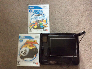 UDraw Game Tablet & 2 UDraw games for sale!!