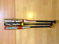 3 youth  aluminum baseball bats