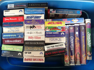 Movies! VHS $2.00 each, 6 for $10