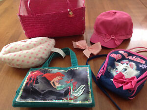 Girl's Purses: Ariel, Aristocats, Hair Pin,and Gymboree Hat