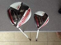 Left handed taylormade aeroburner driver and 3 wood