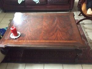 Solid wood table coffee table