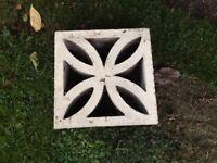 Decorative square wall bricks x 15