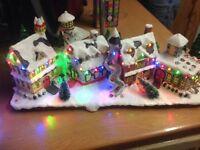 Christmas light up houses