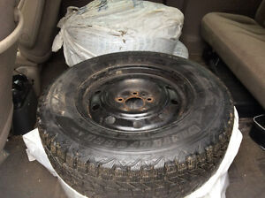 Set of 4 winter tires 215 70 R15 and rims