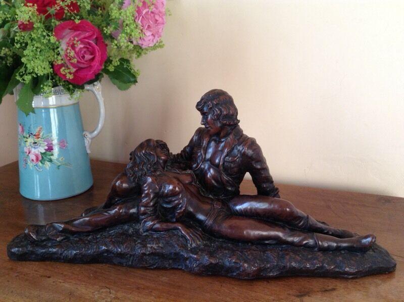 John Letts Bronze Resin Sculpture In Great Cornard