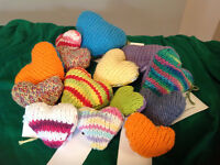 Knitted Cat Toys with Cat Nip! Cozy Hearts