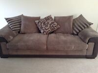 3/4 seater sofa 2 years old from DFS