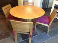 Spin dining table and 5 Sonoma dining chairs