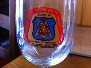 Hamilton-Niagara Carpenters Stemmed Glasses Cambridge Kitchener Area image 1