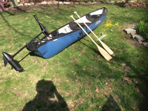 Canoe and electric trolling motor