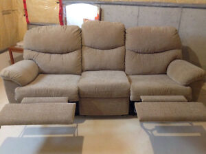 Palliser Microfiber Couch and Matching Loveseat