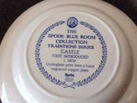 "Spode plate blue room collection ""Castle"" design"