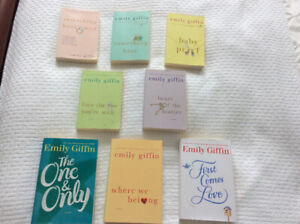 *Emily Giffin* books ~ 5  softcovers & 3 hardcovers ~ only $25