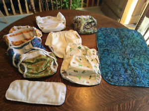 Cloth diapers - Bummis, Mother-Ease, change pad