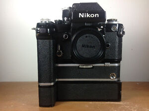 Nikon F2A Vintage film camera with motordrive