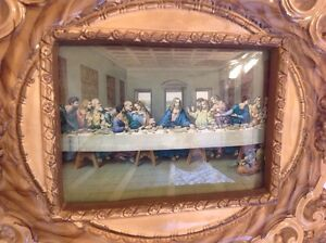 Rare old Jesus Last Supper Plaster Framed, Lamp Windsor Region Ontario image 2