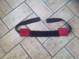 Handle bar straps for motorcycle