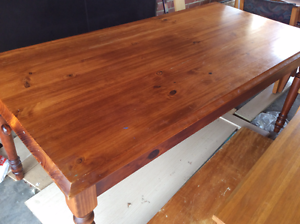 1.8m long solid timber dining table with 6 chairs,free delivery Hobart CBD Hobart City Preview