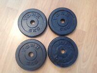 4 x 5kg York Weights