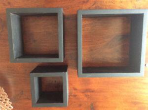 Set of 3 Floating shelf box
