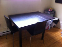 DINING TABLE - ADD ON PLANKS WITH CHAIRS - PICK UP NOW