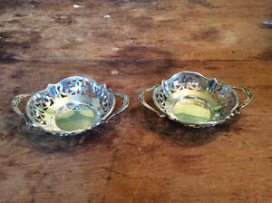 (2) VINTAGE STERLING SILVER MINT DISHES 42.5 GRAMS