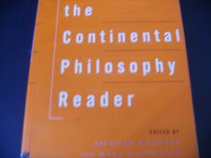 CONTINENTAL PHILOSOPHY READER  9780415095263