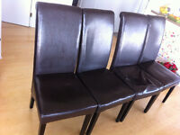 !!!Four Leather Chairs $60!!! (HENRIKSDAL-IKEA)