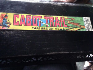 Antique Cabot Trail Bumper Sticker From 1953