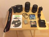 Canon EOS 500D SLR Camera and 2 Lenses