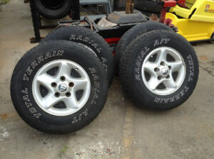 "LT245/75R16"" TOTAL TERRAIN RADIALS ON DODGE RIMS"