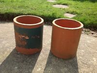 Pair of Chimney Pot Planters