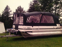 22 ft Princecraft Pontoon boat with trailer