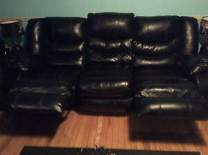 Reclining leather chesterfield and reclining love seat St. John's Newfoundland image 2