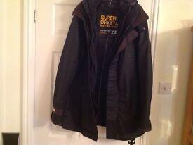 Men's superdry wax jacket xxl