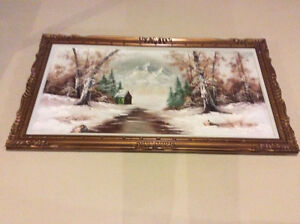 H. Kerver painting with frame Windsor Region Ontario image 1