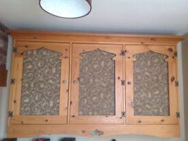 Pine wall cupboard