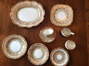 VINTAGE Royal Albert Crown China COURT- 1920'S Handpainted