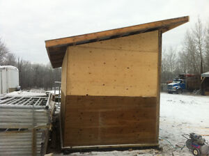 8x12 lean to calf shelters