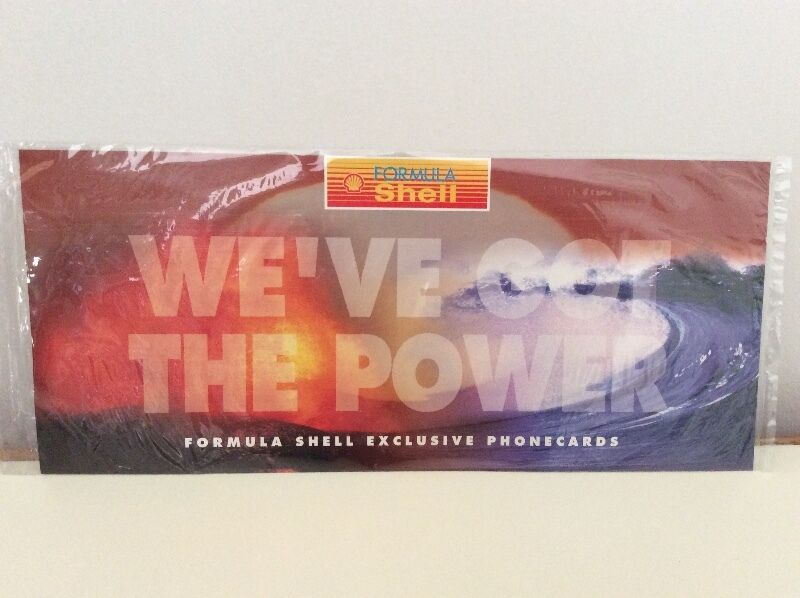 Formula Shell phonecards