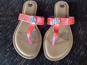 Size 11 ladies burnt orange sandals