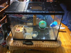Reptile, amphiian or rodent tank with wire lid