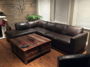 Natuzzi top grade leather sectional