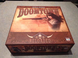 Doomtown Reloaded card game, complete with two expansions