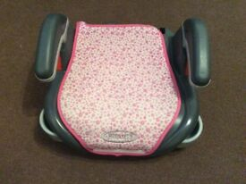 Child Car Booster Seat With Cup Holder - Pink